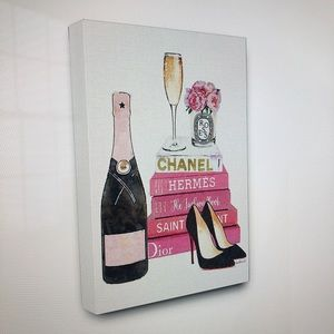 Chanel, Hermes and Dior canvas